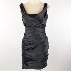 White House Black Market Satin Draped Sheath Dress